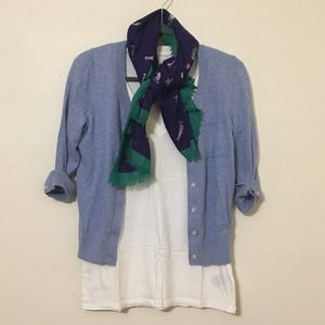 GAP | Baby blue 3/4 sleeve cardigan